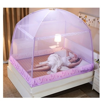 Romantyczny fioletowy trzy drzwi moskitiera dla dorosłych łóżko lato przenośne środek odstraszający owady moskitiera namiot siatki siatki na łóżko tanie i dobre opinie Camping Podróży OUTDOOR Domu Uniwersalny Owadobójczy traktowane Składane circular changbvss Mongolski jurta moskitiera