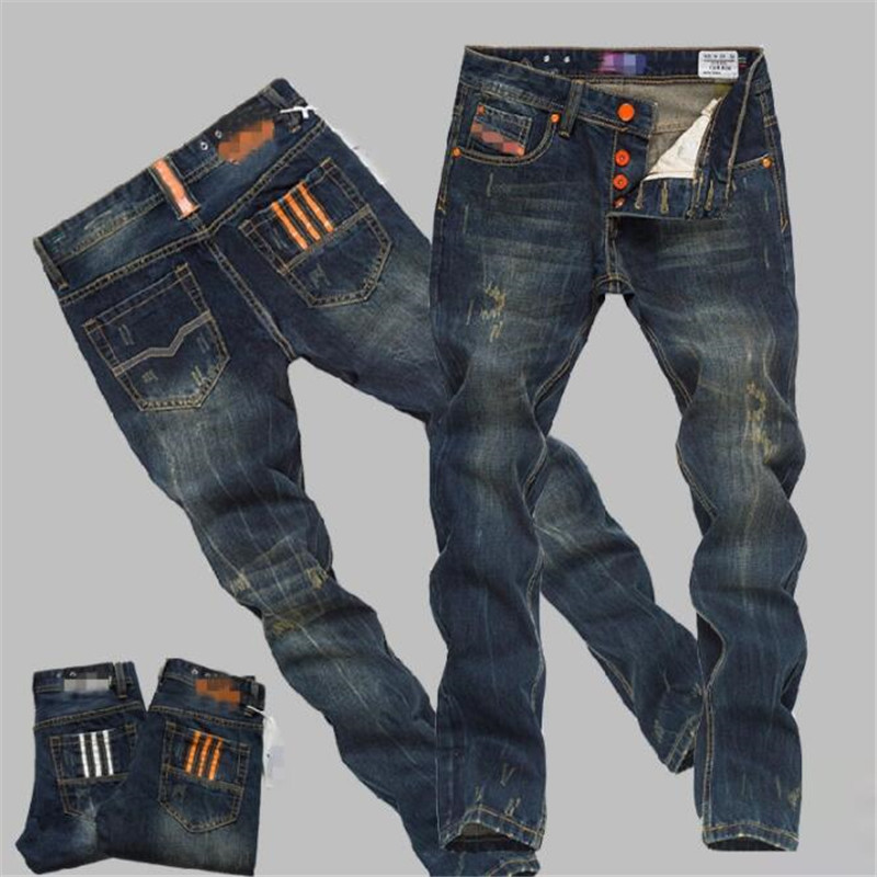 Pantalons Fashion Men S Printing Casual En Cuir Pu Jeans Mi Stright Pantalon Europe Coupe Slim Sch
