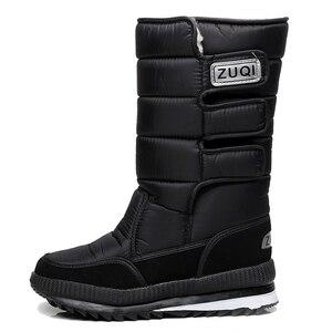 Image 5 - Men Boots platform snow boots for men thick plush waterproof slip resistant winter shoes Plus size 36    47 2019 Winter