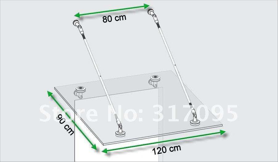 KIN MADE Stainless steel Glass Canopy Kits/Awning for windows & doors Glass roof - 2