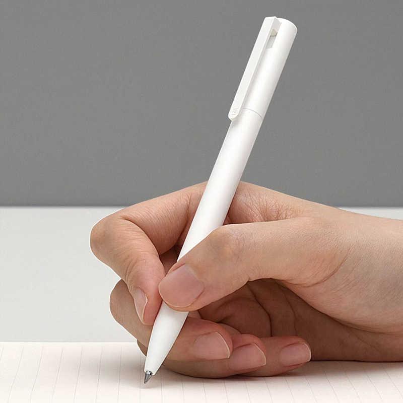 Original Xiaomi Mijia 10Pcs Gel Stifte Keine Kappe Schwarz Tinte Schreiben Stift Weiß PREMEC Glatte Schweiz Refill Japan Tinte schwarz H30