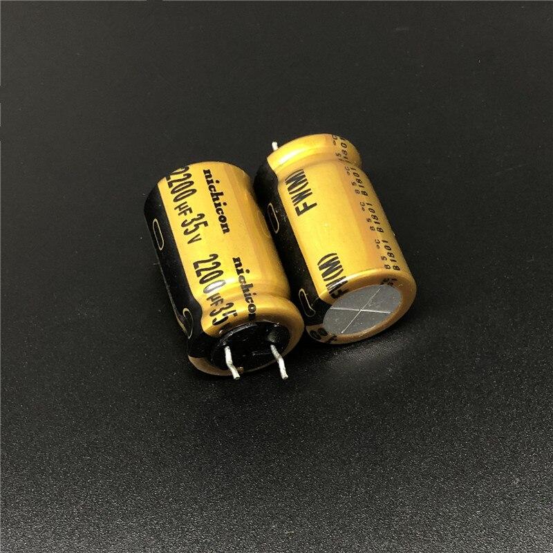 Capacitor de Áudio Pces uf 35 v Nichicon fw Série 16x25mm 35v2200uf Alta Fidelidade 2 – 10 2200