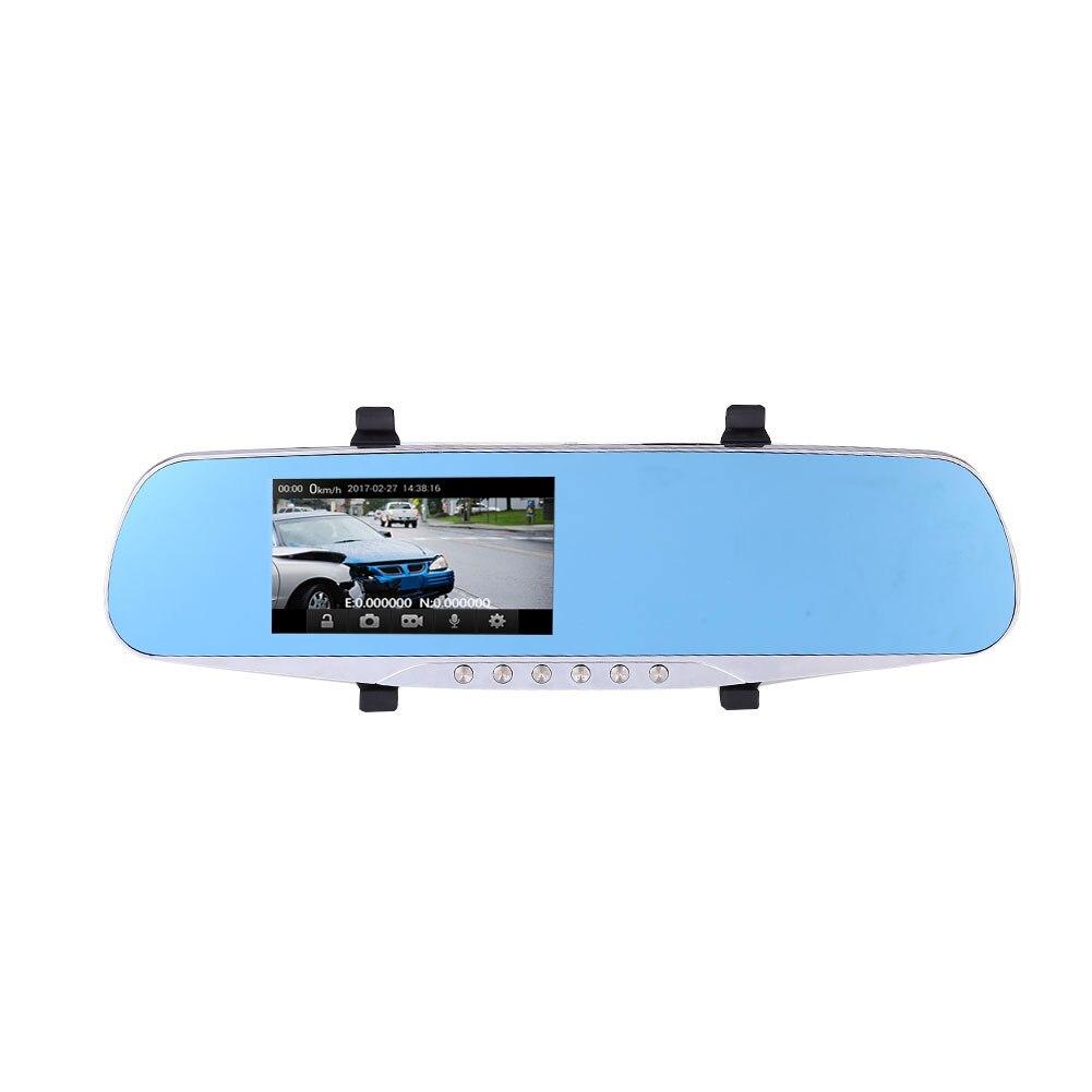 Voiture Caméra DVR Caméscope Auto Enregistreur Double Lentille HD 12MP 4.3 pouce 1080 p
