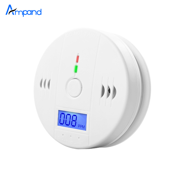 Home Security Indepedent  LCD Digital Carbon Monoxide Detector CO gas Sensor Alarm accurate digital display Voice prompt
