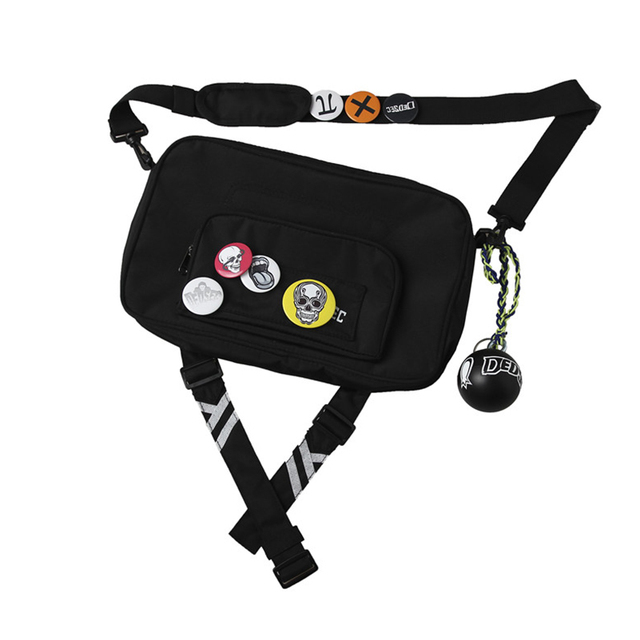 Watch Dogs 2 Cosplay Marcus Holloway Bag Cosplay Costume Accessory Props Shoulder Bag With Badges And Ball Adult Unisex Bag Only