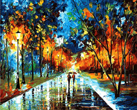 Night Street Landscape Abstract Home Decor The Paintings Picture By Numbers Handwork Canvas Decoration Gift For