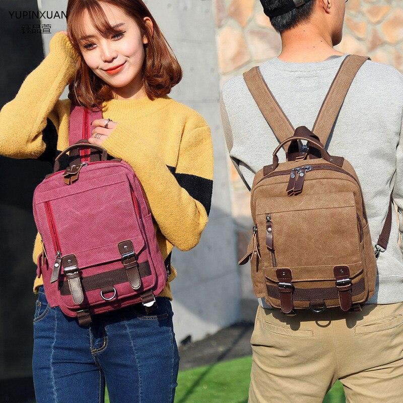 Yupinxuan холст Рюкзаки маленький школьный рюкзак унисекс Mochila Escolar feminina Grils Винтаж отдыха рюкзак сумка Ipad