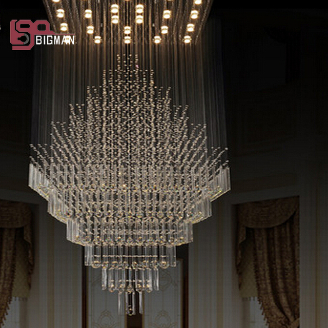 New high quality large modern chandeliers crystal lamp pendant designer chandelier for hotel and home