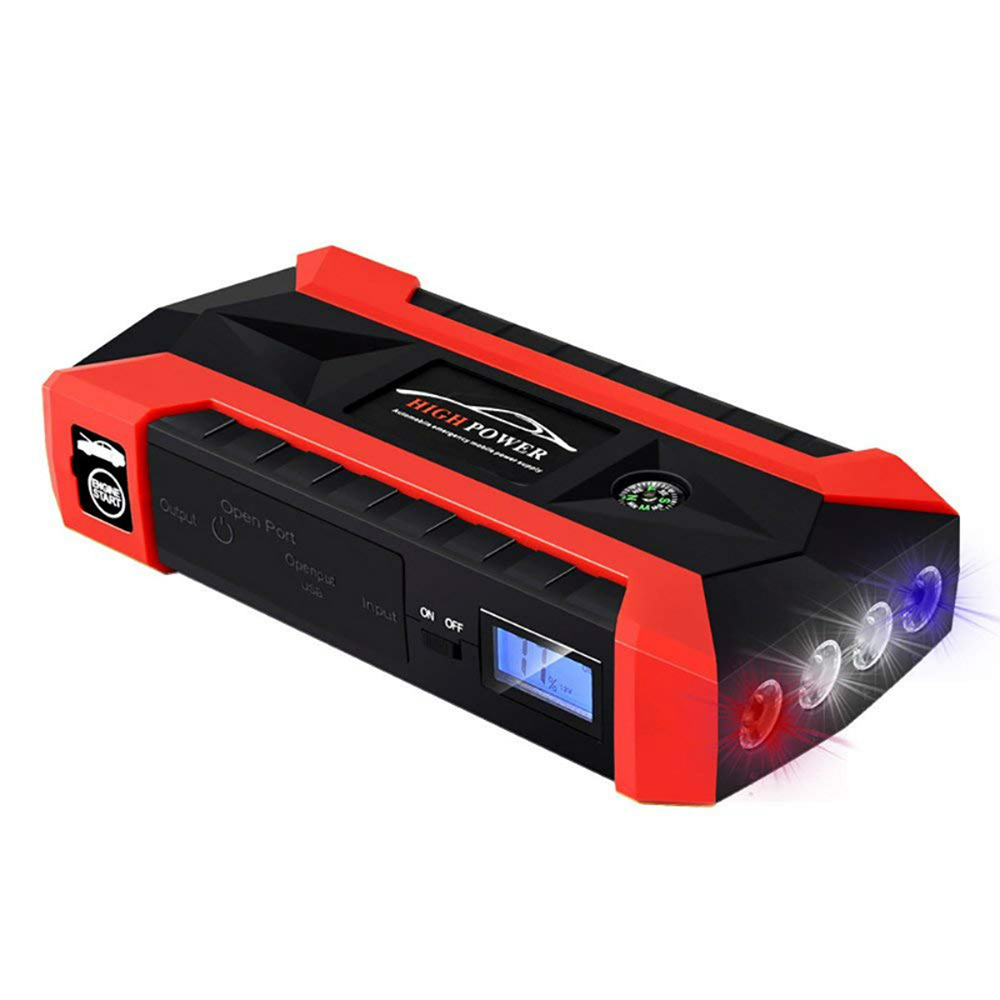 Car Jump Starter Portable Auto Battery Booster Kit Emergency Power Bank Phone Charger with Smart Charging Port (600A 89800mAh)(China)