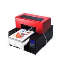 Automatic A3 Size MulticoloDTG T Shirt Printing Machine Print Dark Light Color Flatbed Printer for T Shirt Clothes Phone Case