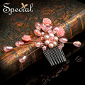 Special New Fashion Natural Pearls Hair Accessories Flower Hair Pins and Clips  Hair Jewellry Gifts for Girls Women FS150412