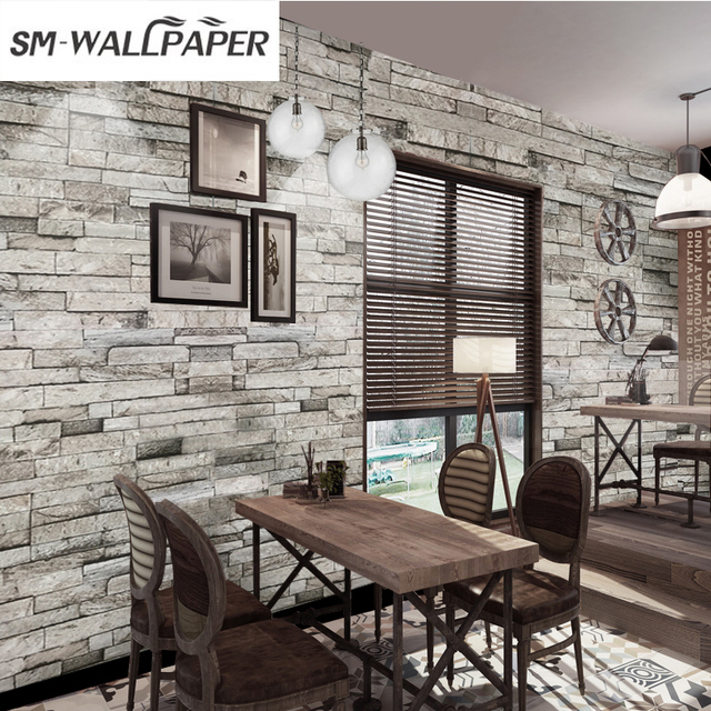 New Design High Quality Removable 3d Stone Brick Wallpaper For Home Wall  Decor