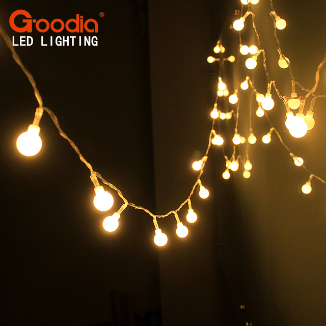 4m 40led fairy christmas lights wedding decoration ip44 waterproof led ball garland string lights lighting holiday