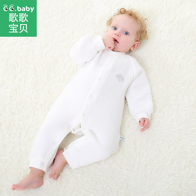 efd40bcae4 Winter Baby Boy Girls Rompers Clothes Newborn Baby Romper Long Sleeve White  Baby Winter Jumpsuit Costumes Baby Overalls Pajamas