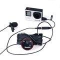 Commlite CVM-V03GP CoMica dB Adjusting Lavalier Microphone Clip-on Omnidirectional Condenser Mic for GoPro HERO3 3+ 4 + Wind Muf