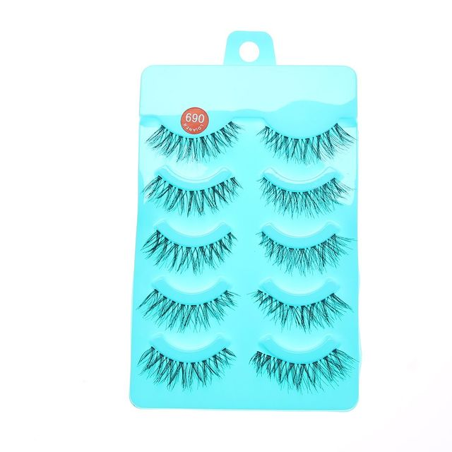 cd194289406 1Set New Natural Long Black False Eyelashes Fake Eye Lashes Makeup  Extension Tools Professional Individual Eye Lashes