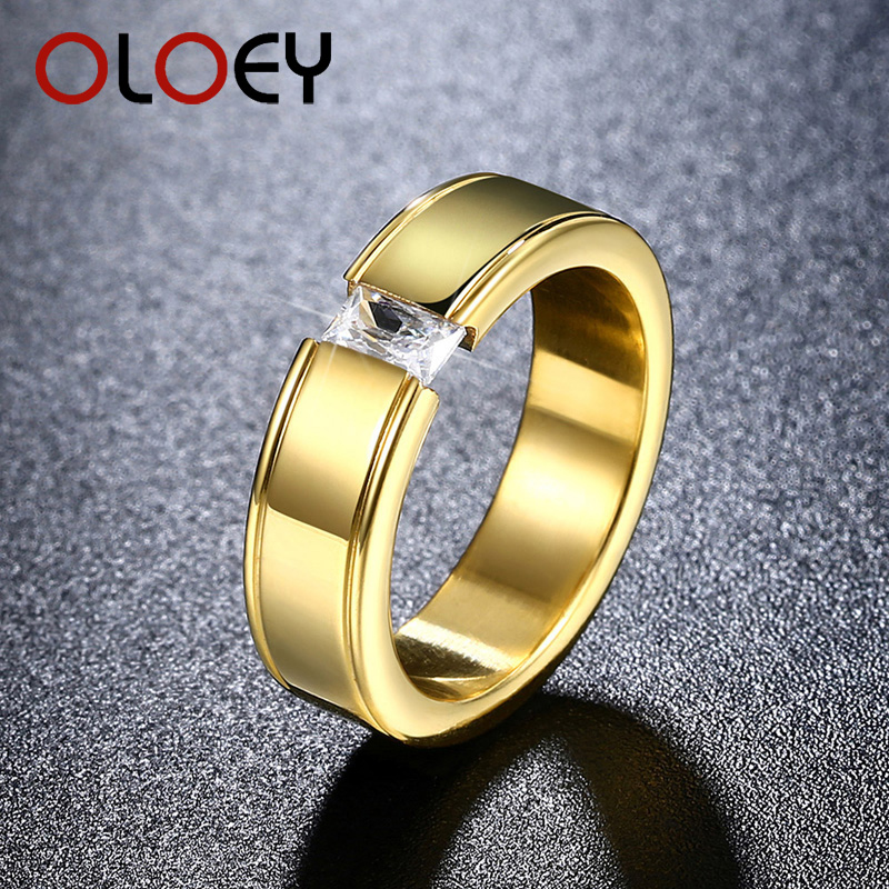 OLOEY High Quality Gold Color Stainless Titanium Steel