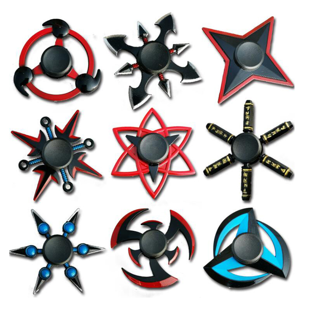 NEW Ninja Darts Spinner Fidget Toy Hand Fidget Spinner Metal EDC Naruto Hand Spinner Metal Autism And ADHD Increase Focus Keep