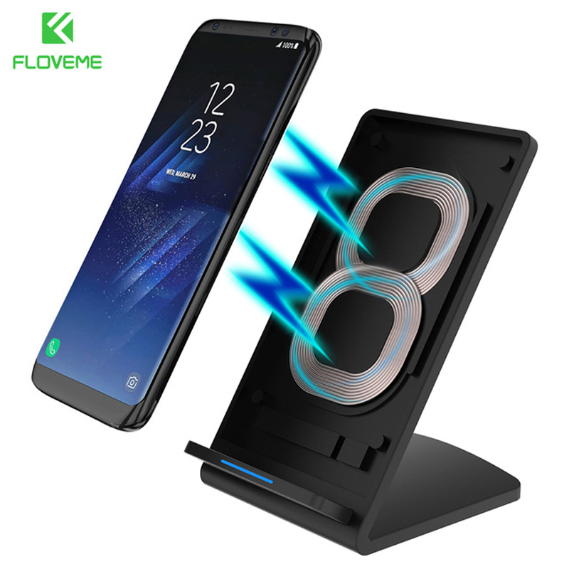 FLOVEME 5V/9V Qi Wireless Charger For Samsung Galaxy S8 S7 S6 Note 8 For iPhone X 8 8 Plus Google Nexus 4/5 Fast Charging Dock