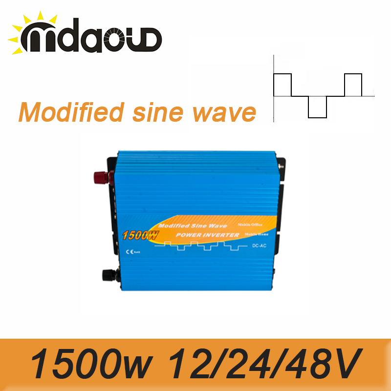 цена на 3000W Peak Modified Sine Wave Inverter 1500W 12/24/48VDC To 110/120/220/230/240VAC Solar Power Inverter