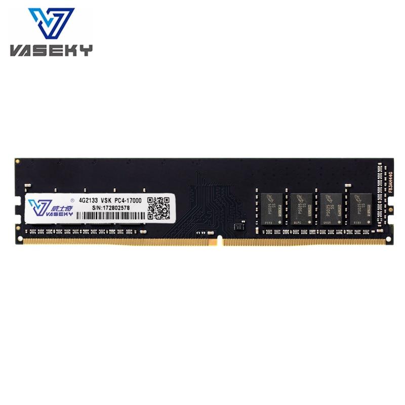 Vaseky 4 gb 8 gb 4g 8g Mémoire PC RAM Mémoire Module Ordinateur De Bureau PC4 17000 19200 DDR4 2133 2400 mhz 2400 mhz 2133 mhz RAM