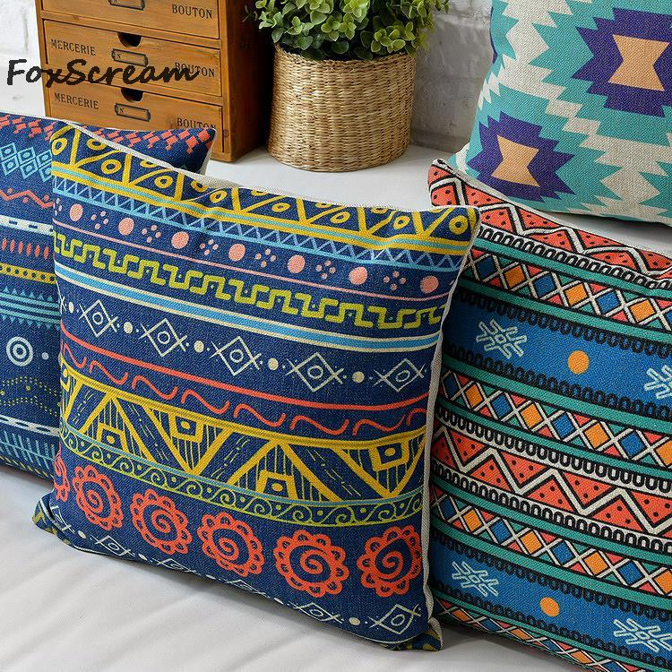 Nordic Style Cushion Cover Home Decor Bohemian Decorative Pillows Cover Geometric Cushion Cover Linen Pillowcase For Sofa