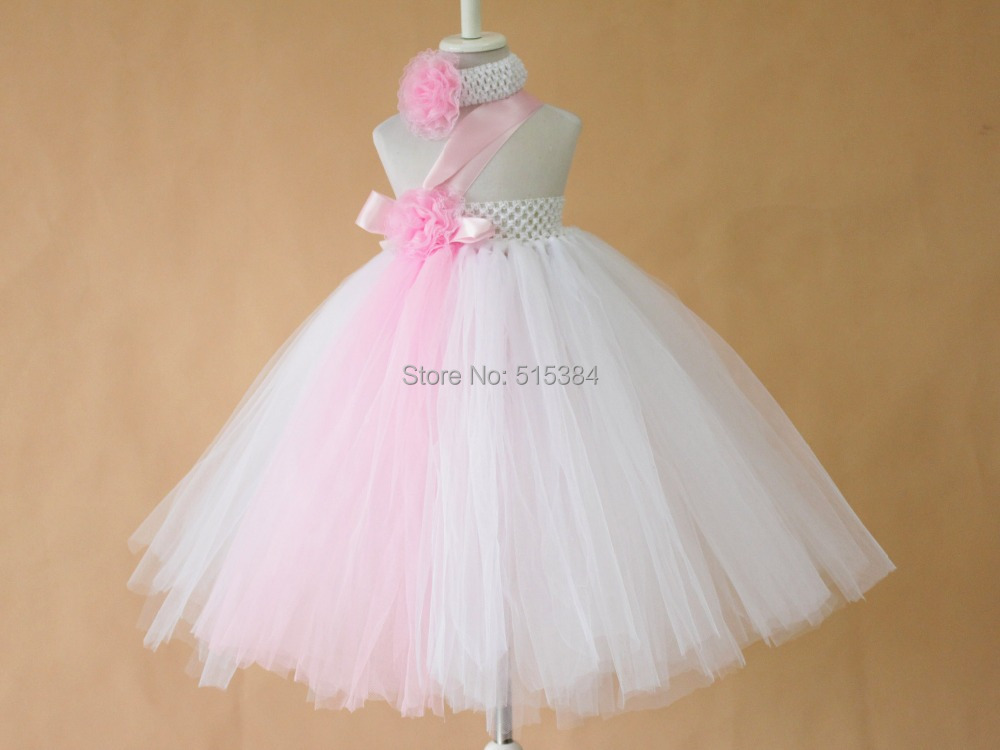 Aliexpress Buy beautiful white pink flower tutu