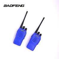 2x BAOFENG 888S UHF Two Way Radio & PTT Earpiece with Microphone Entry level Interphone for Outdoor Sports blue Walkie Talkie