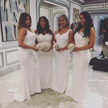 620b268626 Buy maid of honor white dresses for weddings and get free shipping ...