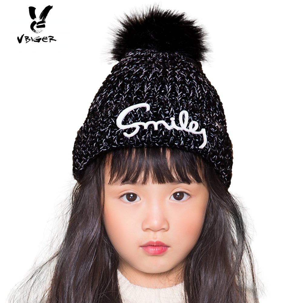 VBIGER Kids Children Warm Hat Beanies Skullies Thick Knit Hat Cap for Boy Girl with Short Plush Lining футболка стрэйч printio hipster wom