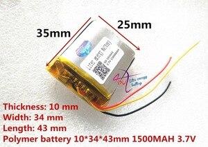 Image 4 - 3 خط لتر بطارية الطاقة 3.7 فولت بطارية ليثيوم بوليمر 103443 1500 مللي أمبير آلة لعبة MP3 MP4 MP5 بطارية ليثيوم لتحديد المواقع الملاح