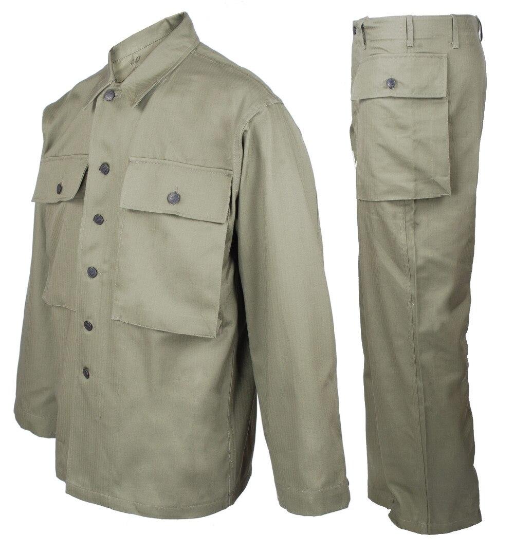 สงครามโลกครั้งที่สองUS ARMYเครื่องแบบเสื้อสูทและกางเกงขายาวในSIZES 36272-ใน แจ็กเก็ตสูท จาก เสื้อผ้าผู้ชาย บน   1