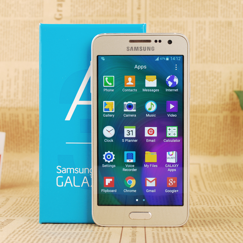 Original Unlocked Samsung Galaxy A3 A300F LTE Mobile phone 4.5 inch Android Quad Core 1GB RAM 16GB ROM 8.0MP GPS WIFI Cellphones
