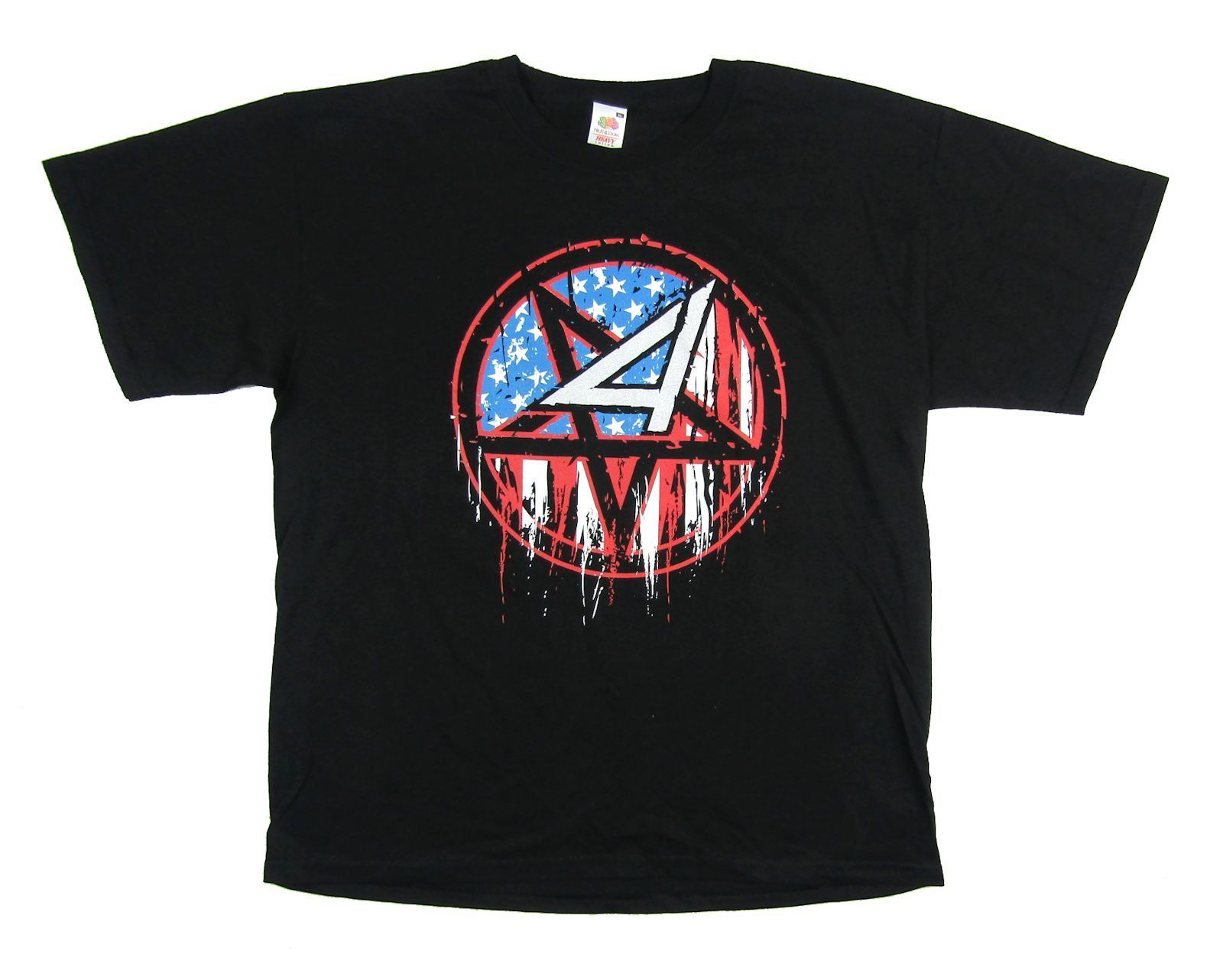 Anthrax флаг Pentragram Мош Предупреждение знак черная футболка новый официальный Мерч группы Дизайн футболка с короткими руками