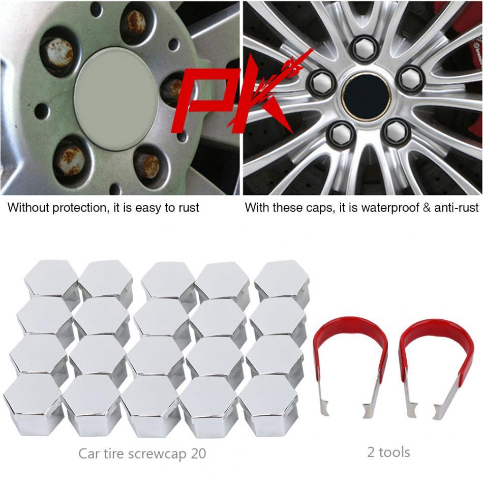20 pcs wheel lug nut boulon vis moyeu couvercle pneu capuchon de protection d cor avec