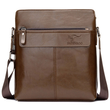 KANGAROO Luxury Brand Men Bag Leather Men Shoulder Messenger Bags Designer Black Casual Crossbody Bags Business Briefcase Bolsa