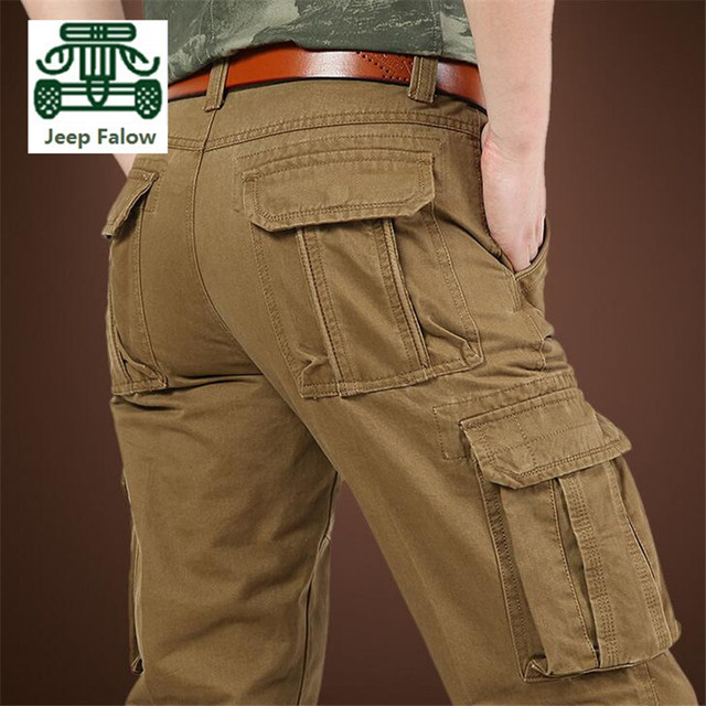 AFS JEEP Falow 100% Cotton Man s More pocket of trousers Cargo Trousers 2724d46d5914