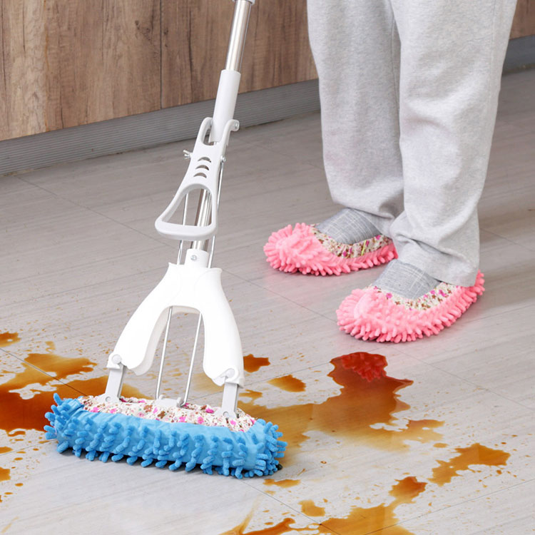 1 PCS Dust Mop Slipper Lazy House Floor Polishing Cleaning Easy Foot Sock Shoe Cover