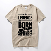 Legends Are Born In September Men T-shirt T Shirt Funny Birthday Gift For A Best Friend Father Boyfriend Husband Dad Brother Son