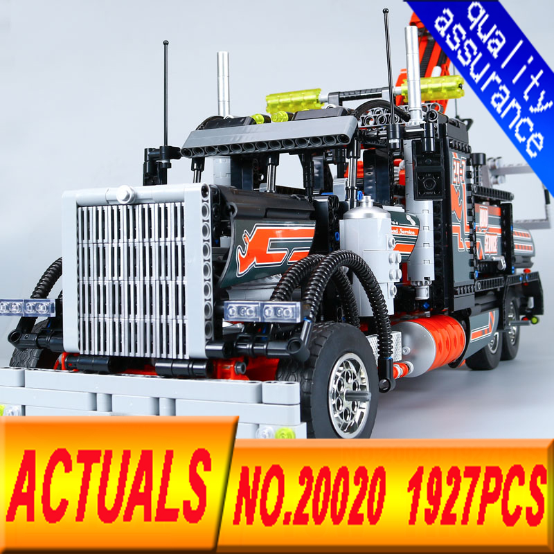 New Lepin 20020 Technic Ultimate Series The Mechanical American Style Heavy Container Trucks Building Blcoks Bricks Toys 8258 new lp2k series contactor lp2k06015 lp2k06015md lp2 k06015md 220v dc