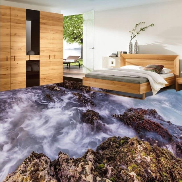 Freies Verschiffen Hd Stein Spray 3d Wohnzimmer Badezimmer Boden Wasserdichte Rutschfeste Schlafzimmer Kuche Bodenbelag Tapete Wandbild