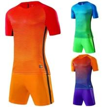 2018 Family matching Sportswear Set Father Son Football Kits Soccer Jersey Kids Futbol Training Suits Short Sleeved Jerseys Men