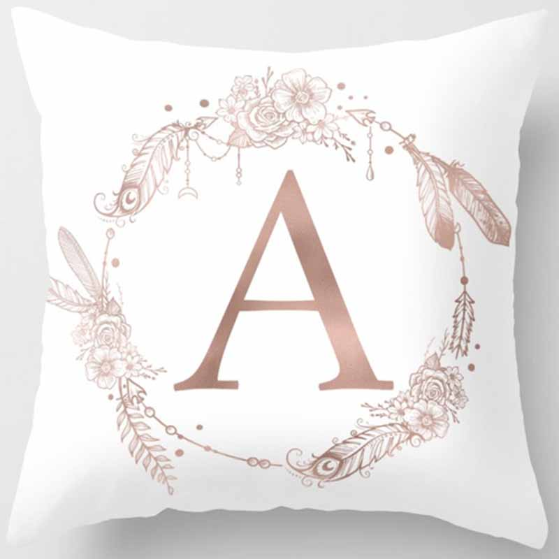 Hot sale English letters pattern women men Pillow case boys girls weeping willow case size 45 45cm in Pillow Case from Home Garden