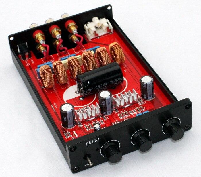 Nouveau TPA3116 2.1 terminé dans le cas 50 W + 50 W + 100 W classe D carte amplificateur