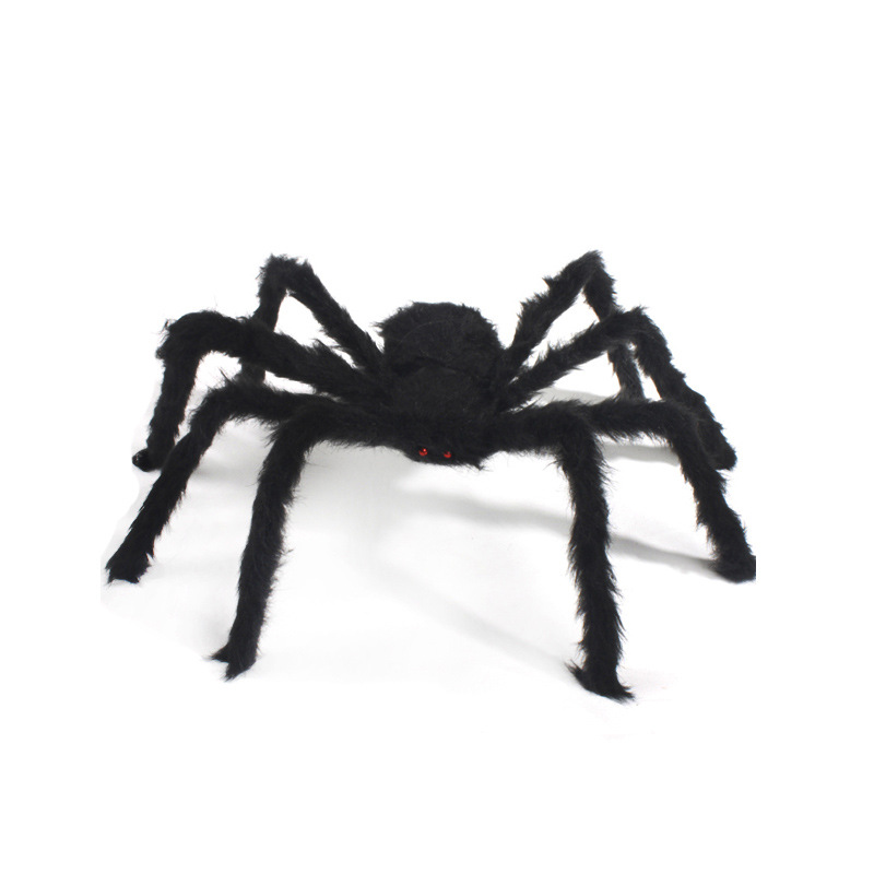 Halloween Ghost Festival Supplies Bar Decoration Props Plush Spider Simulation Spider False Black Color Spider dropship SE11
