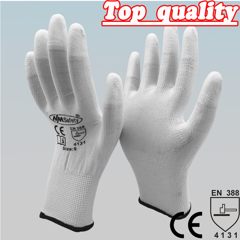 2017 Guantes Trabajo Gloves Nmsafety Anti-static Pu Gloves Anti Static Electronic Industrial Esd Work Finger Gloves anti static elastic finger cots stalls yellow size l 50 pcs