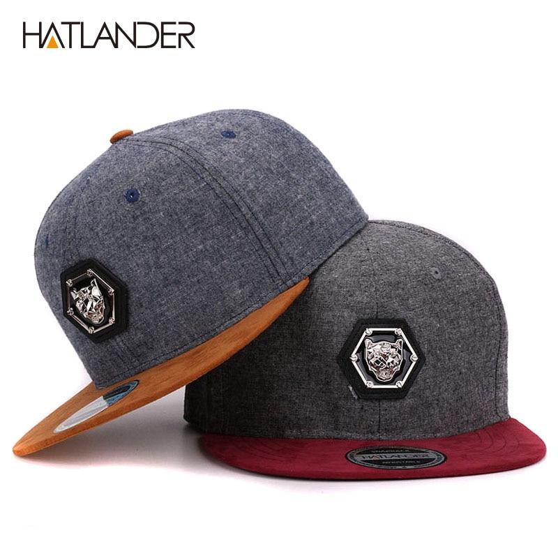 HATLANDER branded adjustable baseball caps women Kpop hip hos