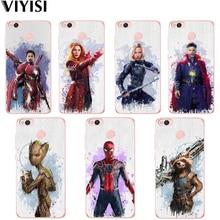 Marvel Avengers For Xiaomi MI 8 Redmi note 5A phone case Mi 5X 6 4 4A 4X Soft TPU Silicone Back Cover Iron Man Coque Shell