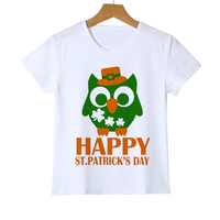 Top Brands Owl T shirts New Summer Female Short Sleeved Painted Owl T-shirt Fashion Girls Clothes 10 12 Year boys t shirt Z20-4