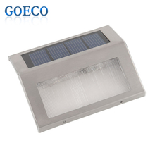 2016 New Solar Power 2LED Outdoor Garden Pathway Stairs Lamp Light Energy Saving Solar Lamp Warm White/White Solar Garden Light